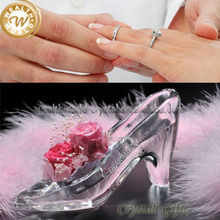 low heel crystal wedding shoes