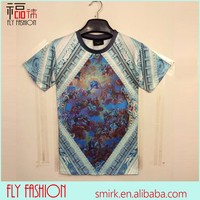 DK041# 2014 Latest Slim Fitted T-shirts Custom Fashion All Over Myth Pattern 3D Print T-shirt For Man