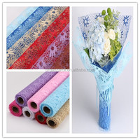 2015 high quality colorful mesh tulle roll for flower wrapping holiday decoration