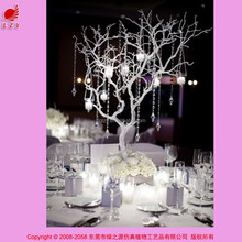 High quality artificial PU decoration white branch tree wedding table centerpiece tree decoration