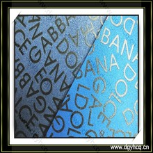 Slap-up microfiber suede printed leather artificial letter pattern leather for making shoes