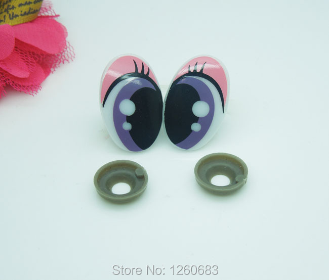 5-25 Pair Plastic Cute Cartoon Safety Eyes For Toy Puppets Dolls Making Craft