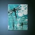 atacado alta qualidade baixo preço abstrata handmade dragonfly pintura a óleo