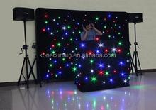 konelite 2 piecs star dj curtain ,led star cloth,lled backdrop/ led dj light
