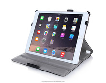 Top selling product in alibaba smart case for iPad air 2 with hand strap, auto wake/sleep function