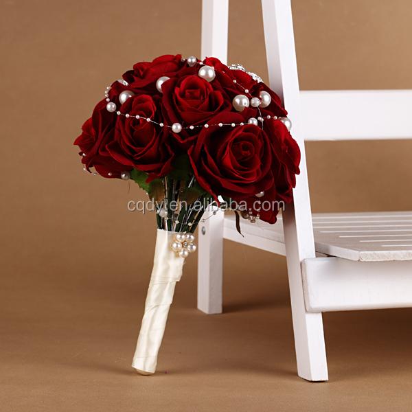 Luxury Red Rose Brooch Artificial Flower Bouquet wedding bouquet ...