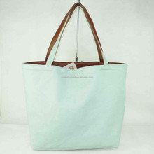 Newest ladies custom-made dual-use leather tote bag 6 colors without zipper factory direct supplier