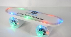2015 Christmas Gift LED Flash Kick scooters Mini bluetooth speakers wireless Subwoofer