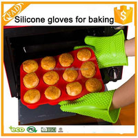 Trade Assurance Supplier Heat 2015 Hot Selling Silicone Rubber Coated Gloves