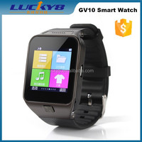 New arrival Genuine leather watch band 300W camera bluetooth/GPS/WIFI 3G GSM waterproof android smart watch phone