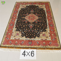 100% silk rugs for sale handmade persian prayer rug and hot sale customized rugs
