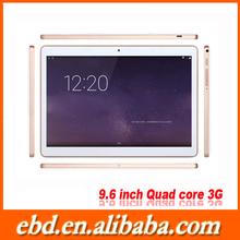 Ebenda new arrival 9.6 inch 1280*800p IPS tablet PC MTK6582M quad core 1G/16G GPS+BT+FM+2 SIM card+2G+3G GSM tablet pc 4200mah
