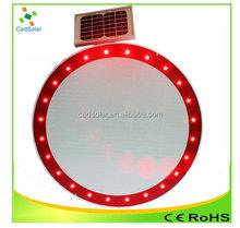 Aluminio reflectante de advertencia solar traffic tablero de la muestra fabricación