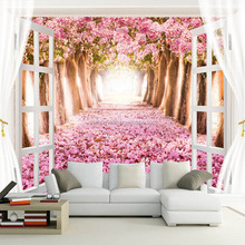 My designs 3d window photo mural wall picture for living room