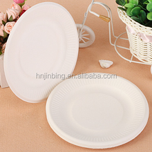 8pcs Biodegradable Paper Disposable Plate 6in