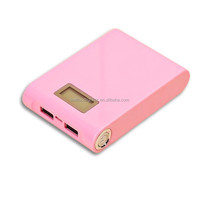 12000mah Promotional portable power bank digital display for all smart phone