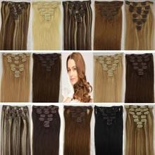Full head clip in hair extensions 100% human remy hair, can be done customized order