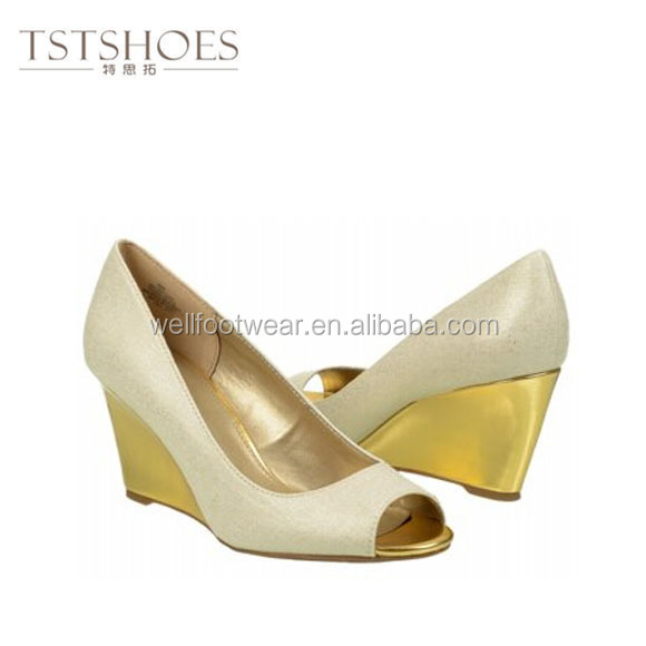 2014 Hot sale wedge heel sandal for woman ladies wedge shoes dress shoes