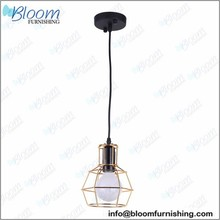 Led ring pendant lamp, restaurant pendant lamp, iron wire pendant lamp