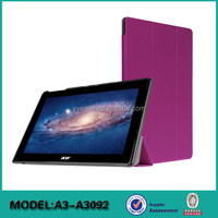 Ultra thin table case for Acer Iconia Tab 10 A3-A30, leather case for tablet 10.1 inch