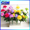40cm Length Artificial plastic carnations flowers Bunch with 10 flower heads
