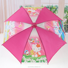 Hot design brand new style kids umbrella pink straight umbrella