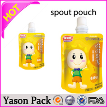 Yason standing spout pouchautomatic spout pouch liquid filling machineresealable liquid packaging stand up spout pouches/matte l
