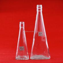Shining design heart shaped glass bottle 500ml ice wine bottle spray colorer glass bottlle