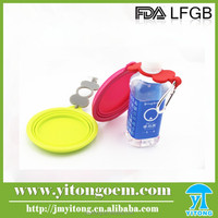 new products 2015 innovative product silicone dog folding bowl with bottle band and clip