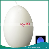 Promotional Egg Shape Color Changing Led Sparkling Candle White