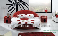 Modern bedroom double size round bed on sale