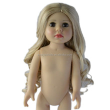 OEM long curly blond doll wig for american girl doll wigs for sale cheap/wigs party/kanekalon american girl doll wigs