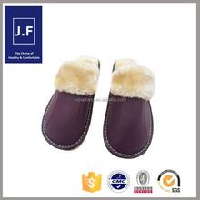 2015 home soft OEM cheap men leather slipper