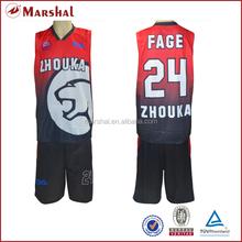Customized basketball jersey set,full sublimation basketball uniform,Top quality basketball uniform