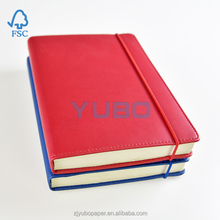 2016 hardcover gift elastic band leather notebook