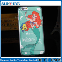 Shenzhen factory Lovely cute Mermaid cartoon case for iPhone 6