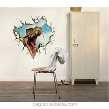 Factory wholesale 3D Wall Sticker Art home Decor Mural Kids Room Home Decoration Removable for Halloween Christmas gift 3D-004