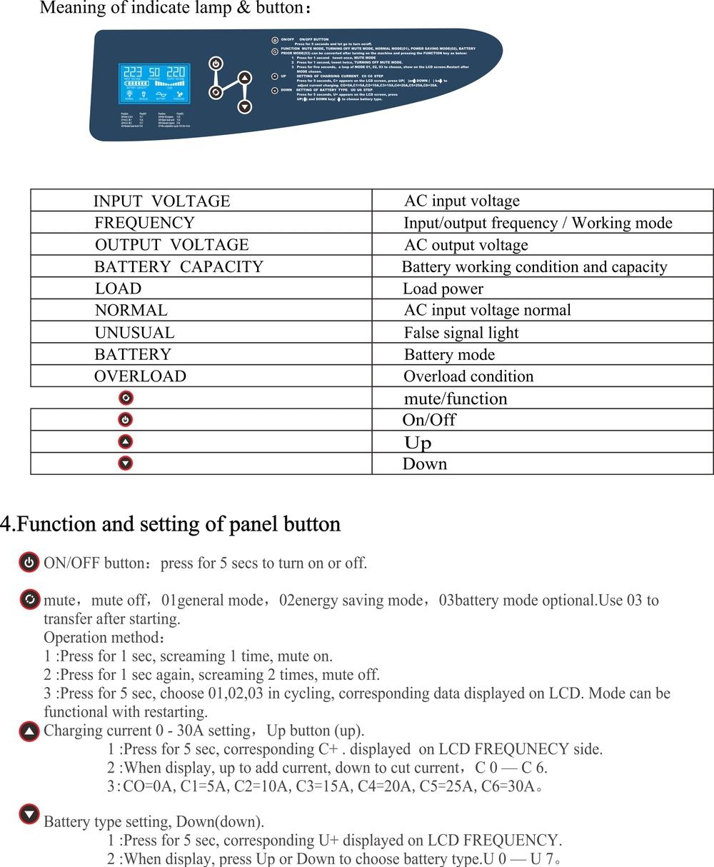 5kva dc ac converter 48v 220v off grid solar inverter
