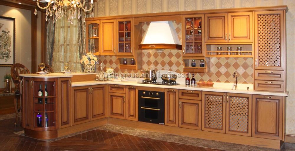 Imagenes de muebles para cocina de madera tallada - Muebles de cocina madera maciza ...