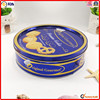 beautiful big colored package tin round biscuit metal box