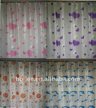 beautiful printed fancy pvc shower curtain