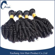 Wholesale Cheap Price Remy Human Hair Extension Aunty Fumi Hair 100g Natural Black Funmi Hair Extension