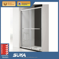 Free standing glass shower room enclosed prefab shower cubicle