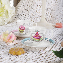 100CC Elegant New Bone China Ceramic Espresso Cup Set of Sweet Cup Cake