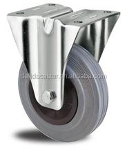 "3""4""5""6""8""10"" swivel/rigid/brake black PP grey rubber industrial caster I001"
