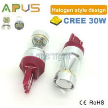 High lumens red color CR-EE 30W W21/5W 7443 12V led brake light