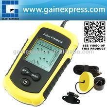 FF-1108-1 sonar buscador de los pescados/localizador 100m alarma detecta las malas hierbas, la hierba, rock( suerte)