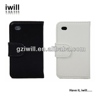 2014 new products pu leather flip wallet case for iphone5