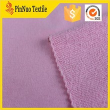 2015 high quality CVC cotton french terry pink color