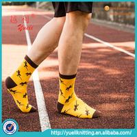 Korea cotton printed cartoon sporty man cotton sock without spandex